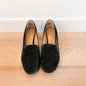 Banana republic black suede loafers